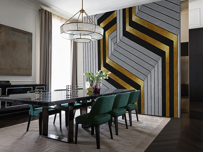 Exceptional Deco Home_wall Deco_tapete_golden Hook Amazing Ideas