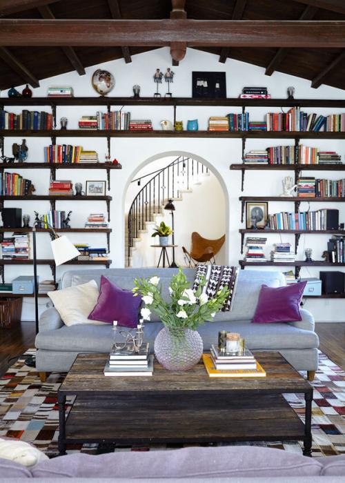 Buecherregale Inspiration Ideen Bookshelf Wohnzimmer  Buecherwand Decohome.de_